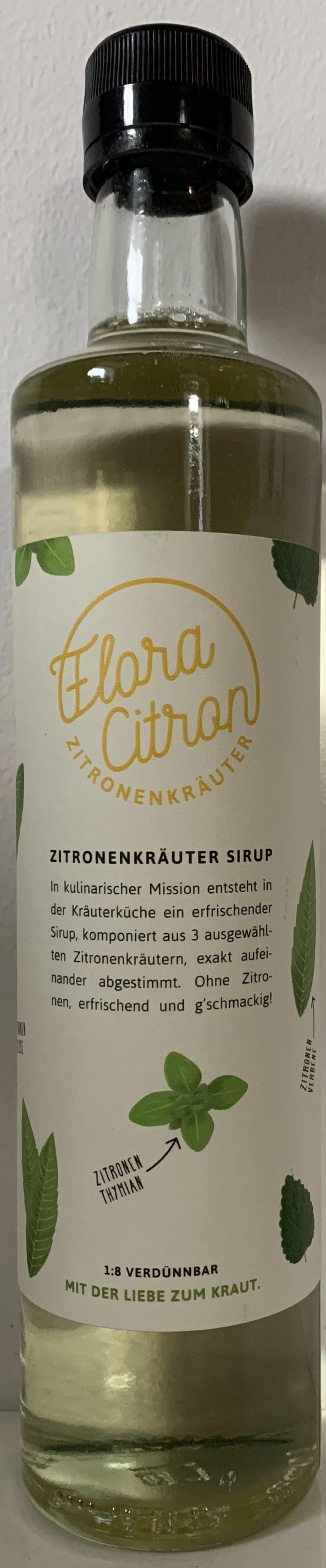Zitronenkräuter Sirup