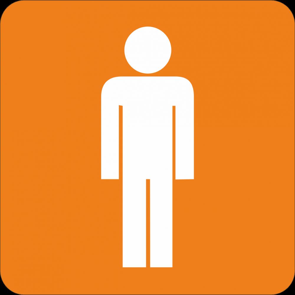 Piktogramm WC Herren