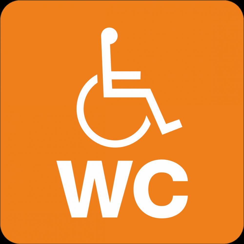 Piktogramm WC Rollstuhlfahrer