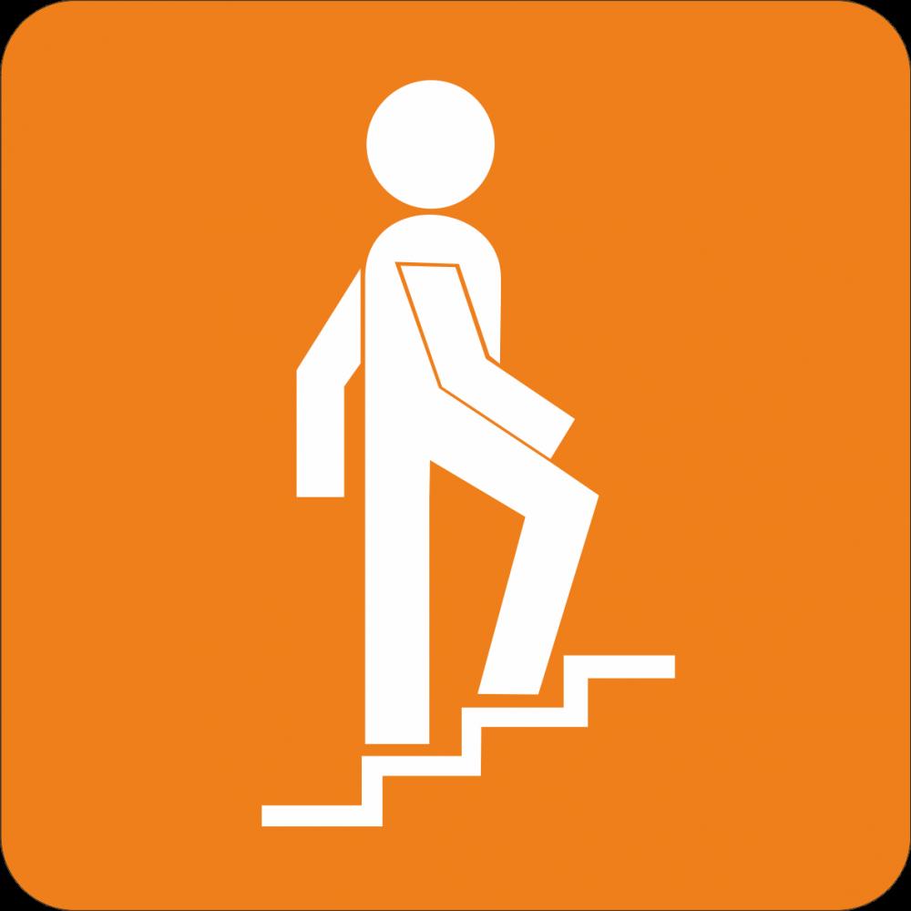 Piktogramm Treppenhaus - rechts