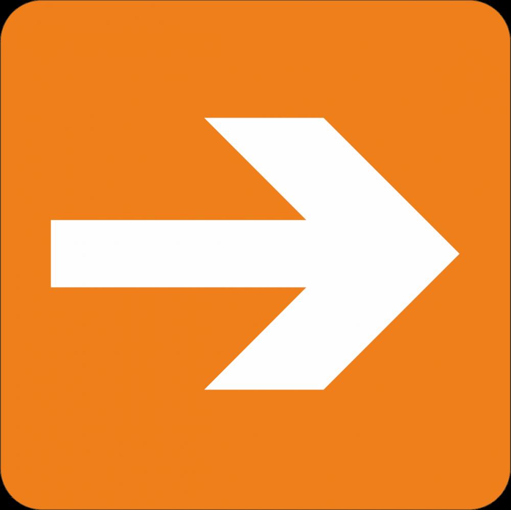 Piktogramm Richtungspfeil - rechts