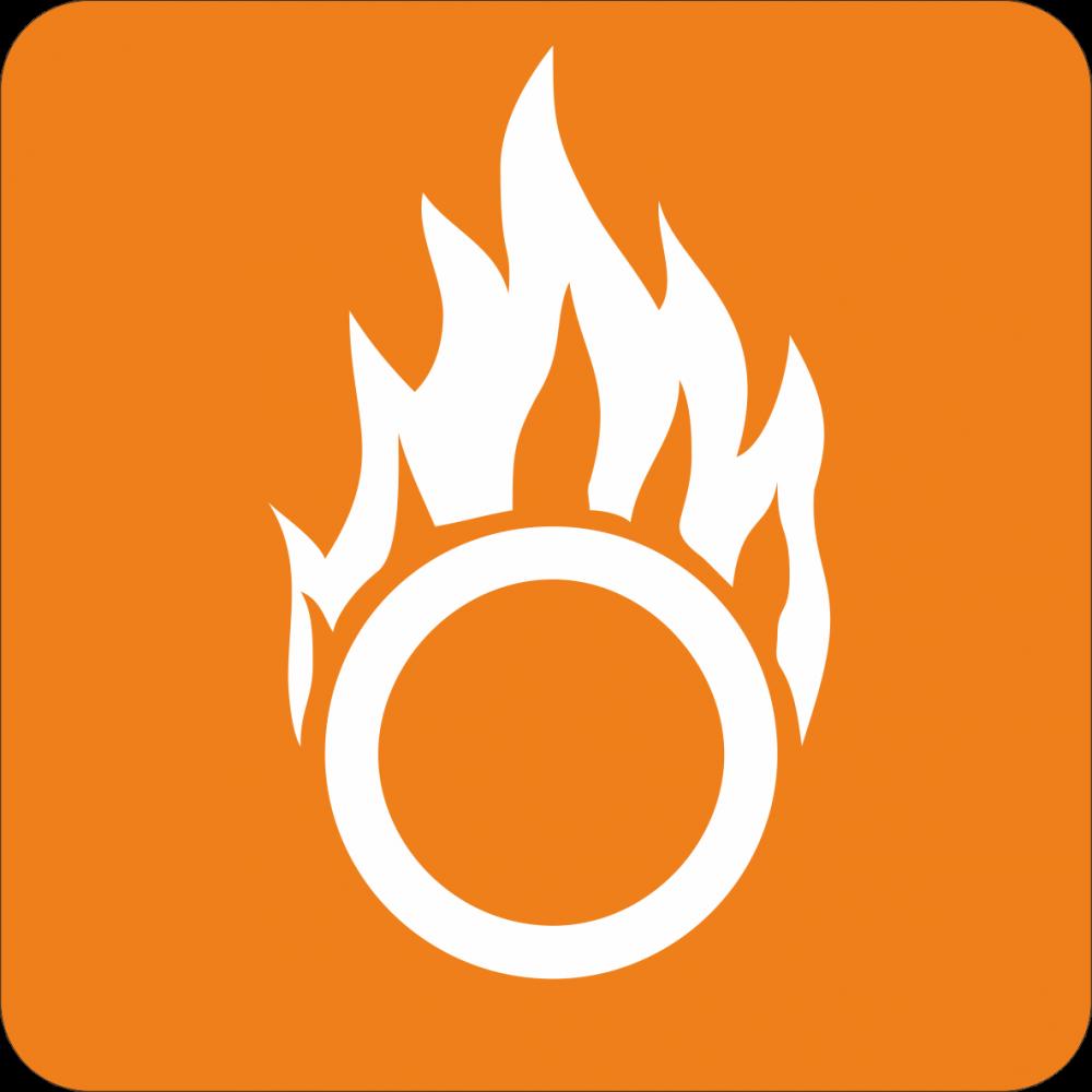 Piktogramm Gefahr Brandfördernd