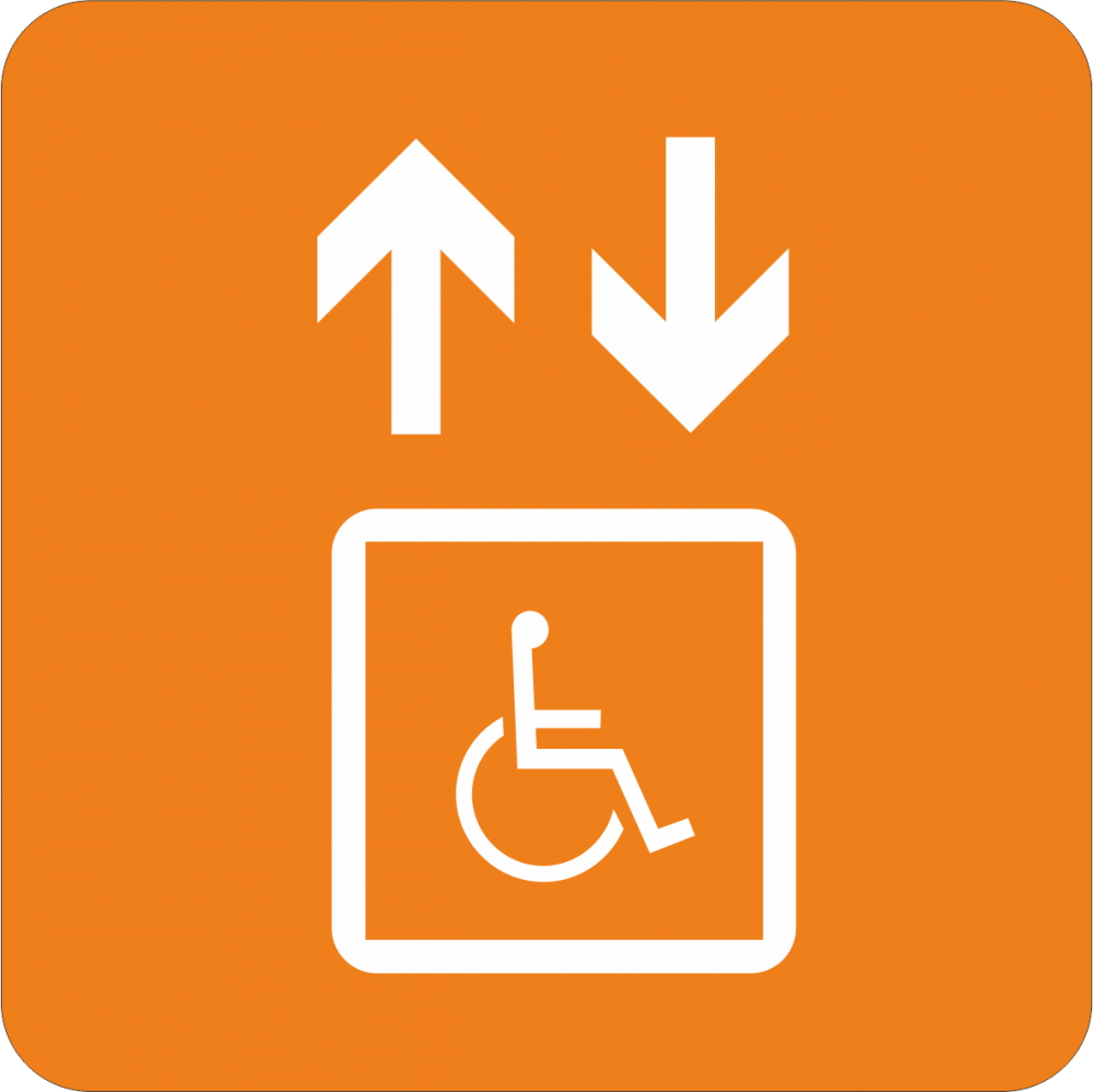 Piktogramm Fahrstuhl behindertengerecht