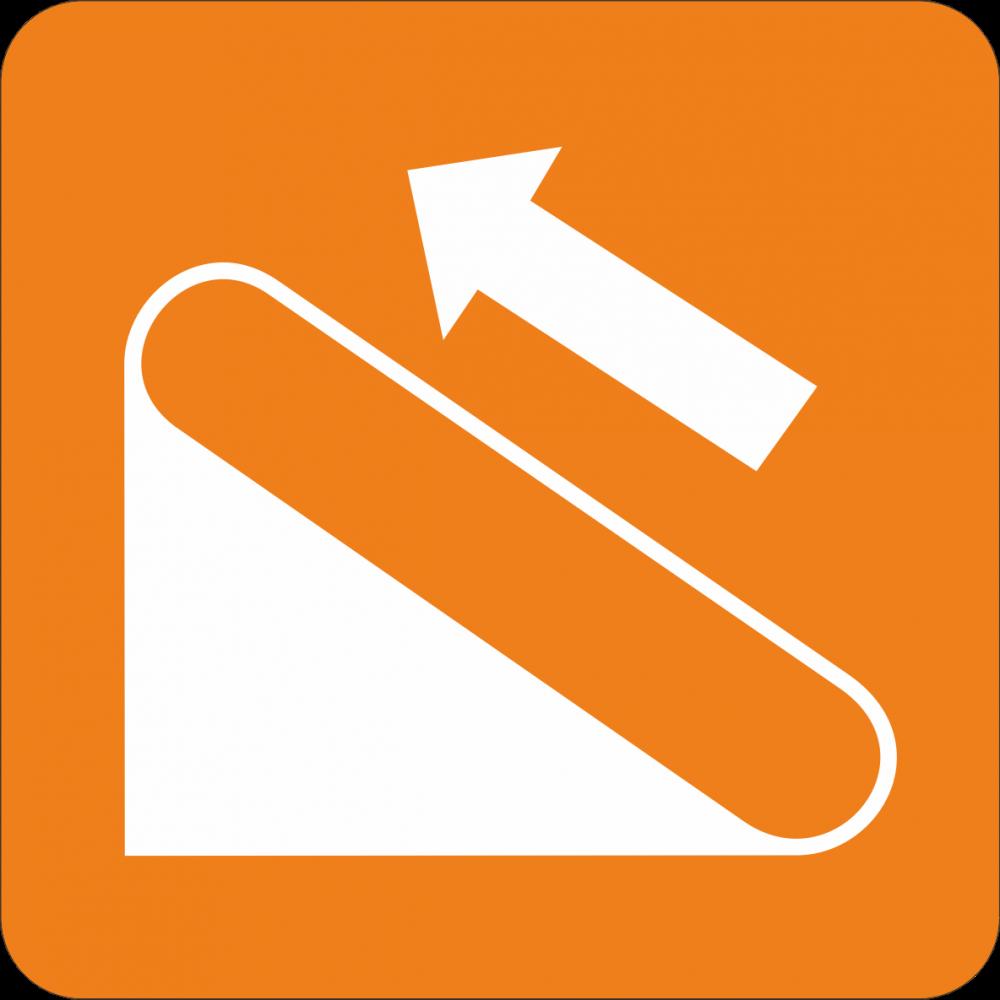 Piktogramm Rolltreppe - links