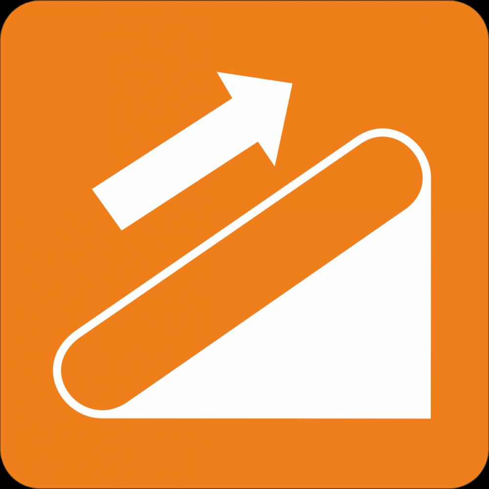 Piktogramm Rolltreppe - rechts