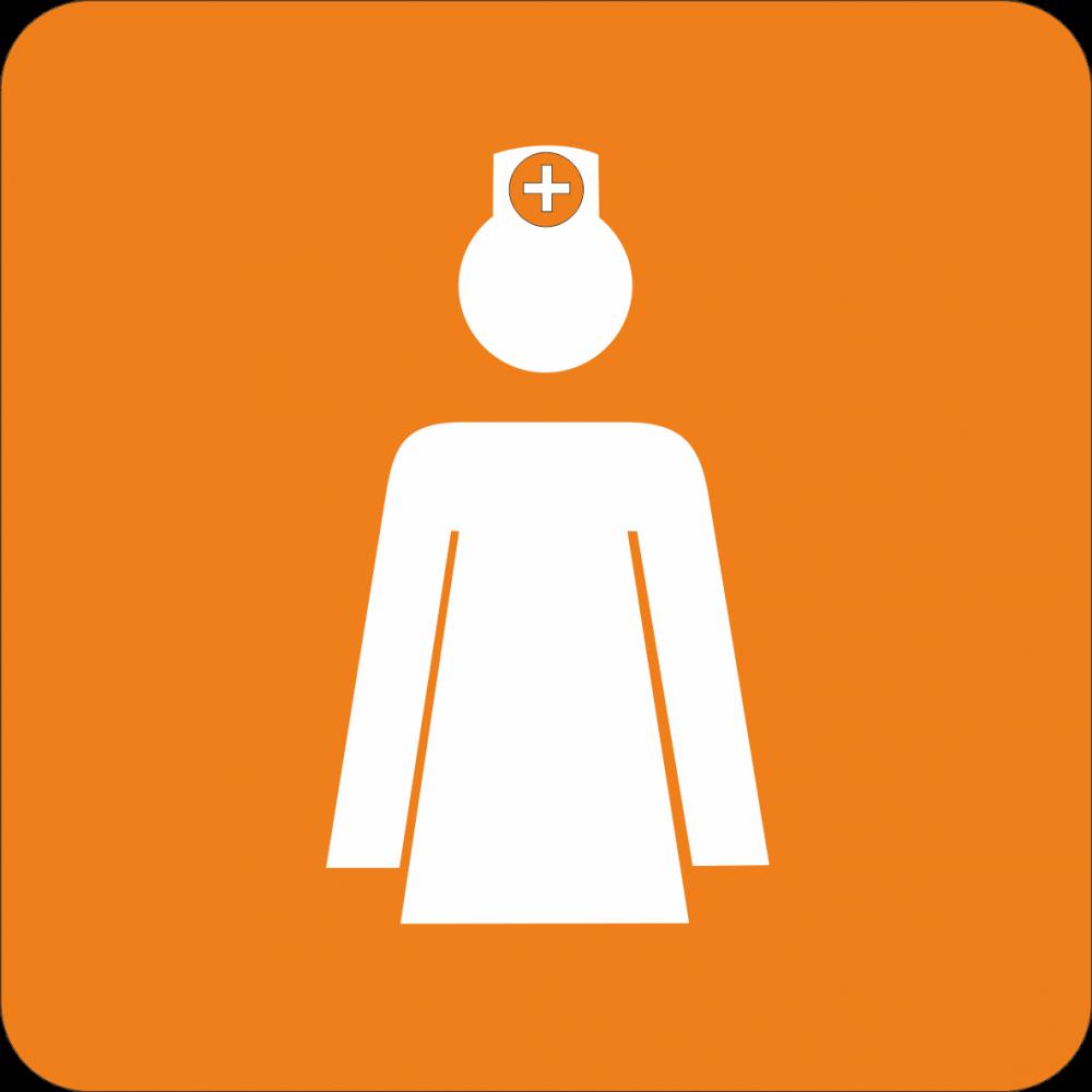 Piktogramm Krankenschwester