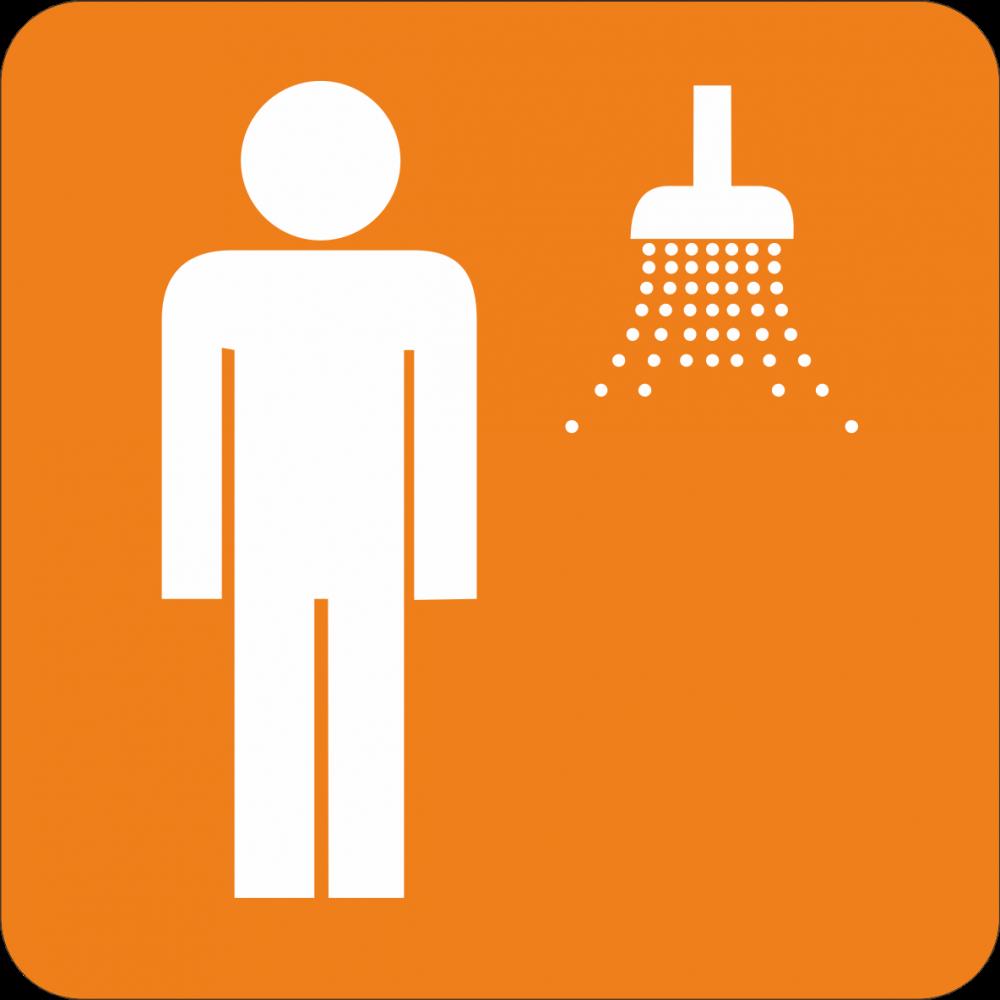 Piktogramm Dusche - Herren