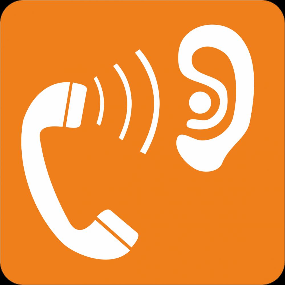 Piktogramm Telefon für Hörgeschädigte