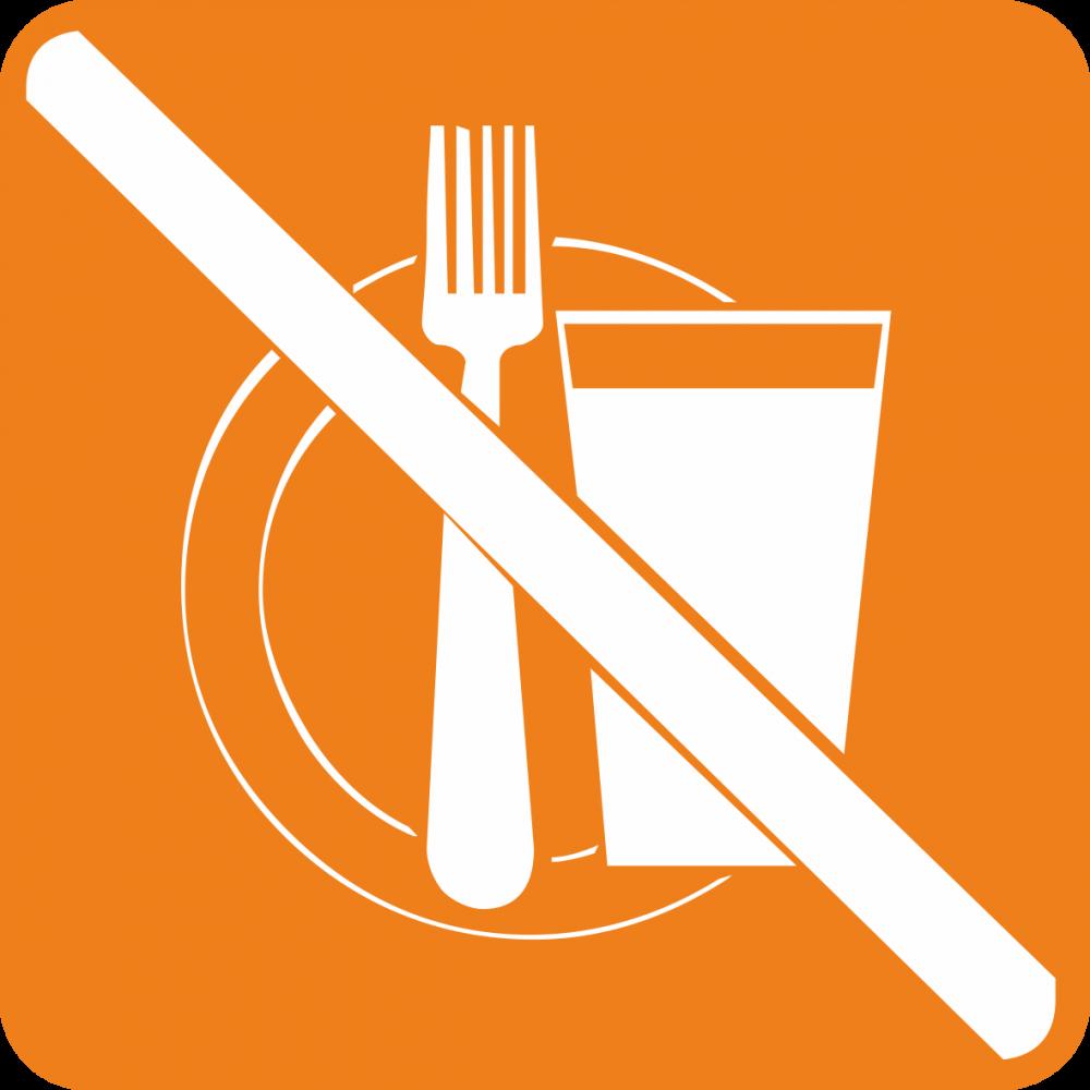 Piktogramm Essen und Trinken verboten