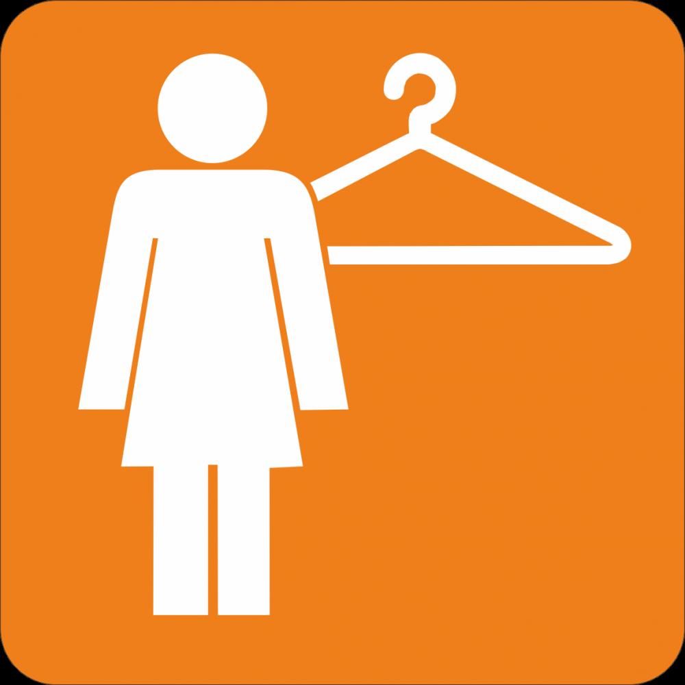 Piktogramm Garderobe - Damen