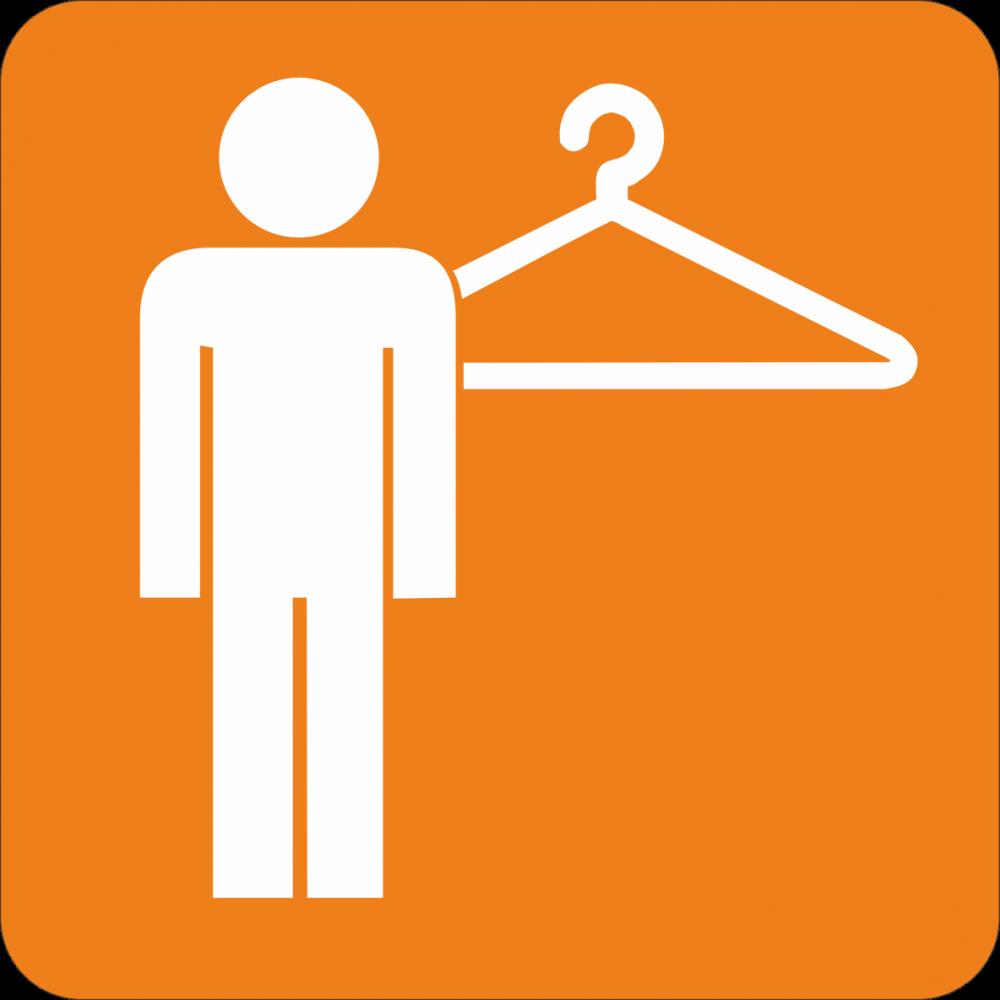Piktogramm Garderobe - Herren