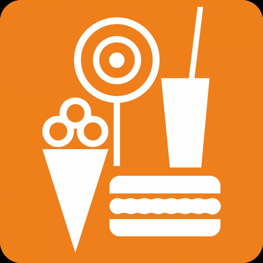 Piktogramm Essen, Getränke und Eis