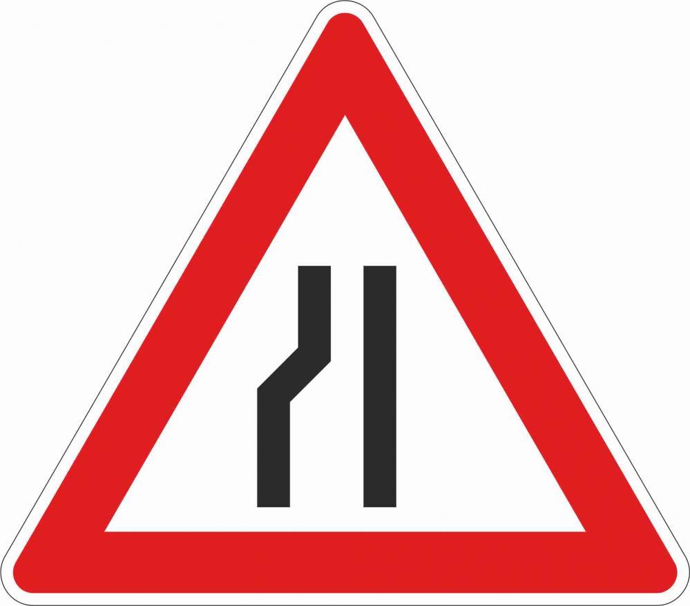 Fahrbahnverengung linksseitig §50/8b