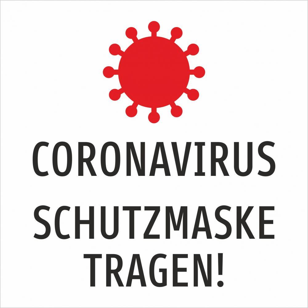 Coronavirus Schutzmaske tragen!