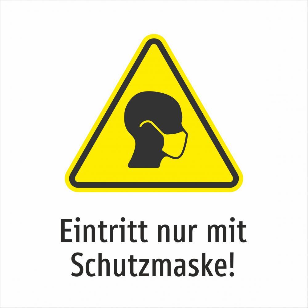 Eintritt nur mit Schutzmaske! (gelb 1)