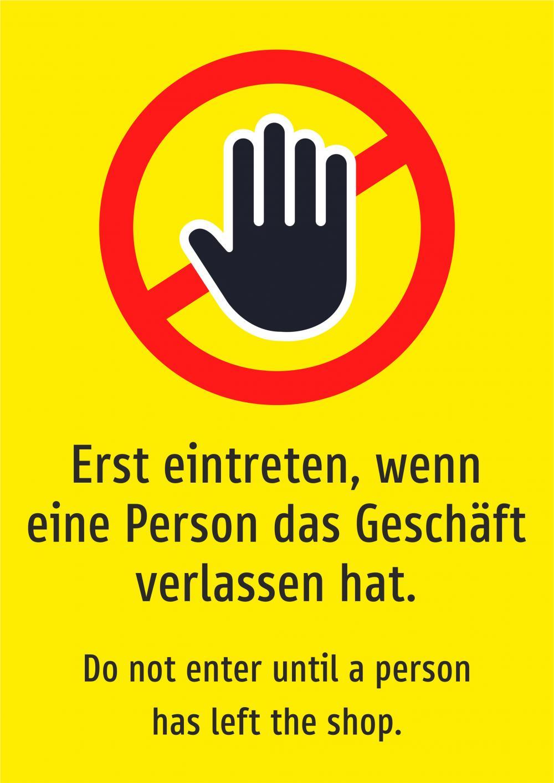Einzeln eintreten, wenn eine Person... (gelb)