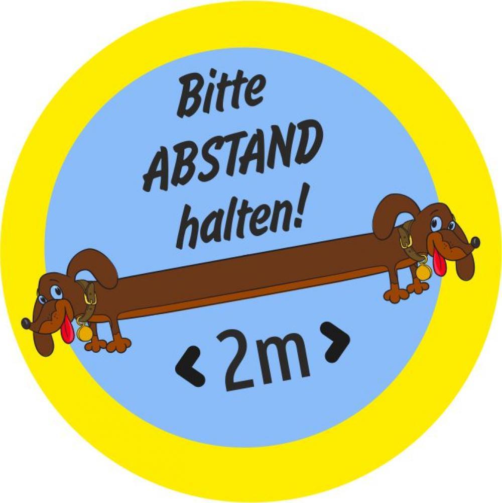 Button: Bitte Abstand halten - Motiv Dackel
