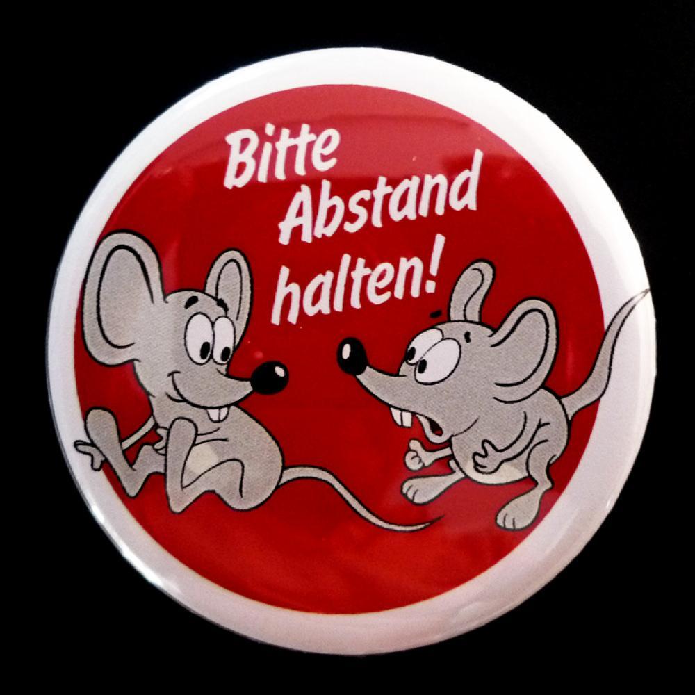 Button: Bitte Abstand halten - Motiv Mäuse