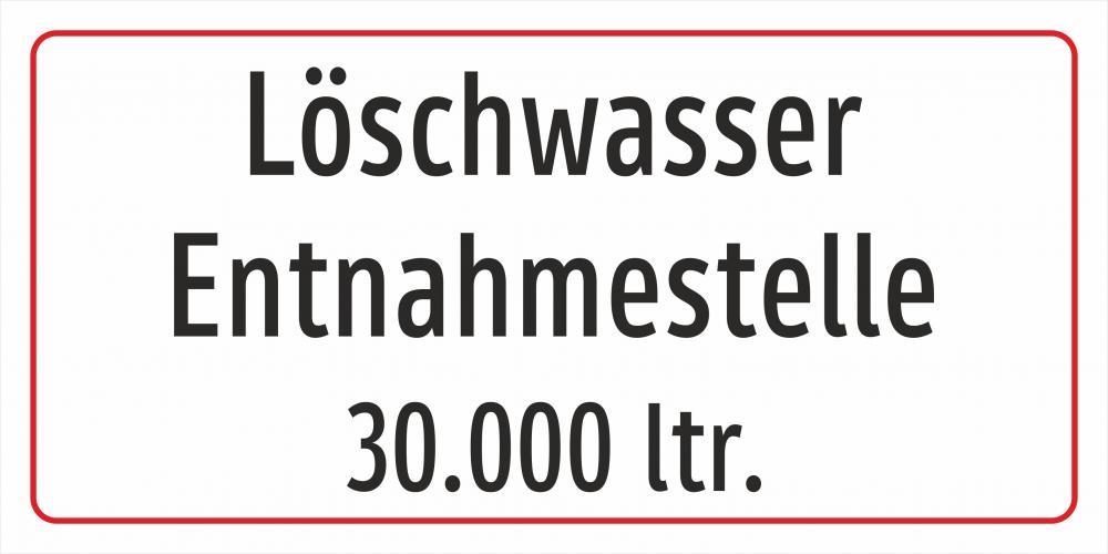 Löschwasserentnahmestelle 30000 ltr.