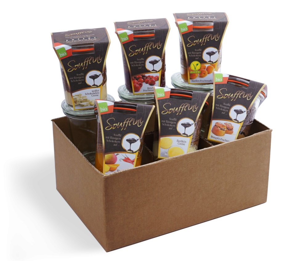 BIO Soufflini mit Zotter Schokolade