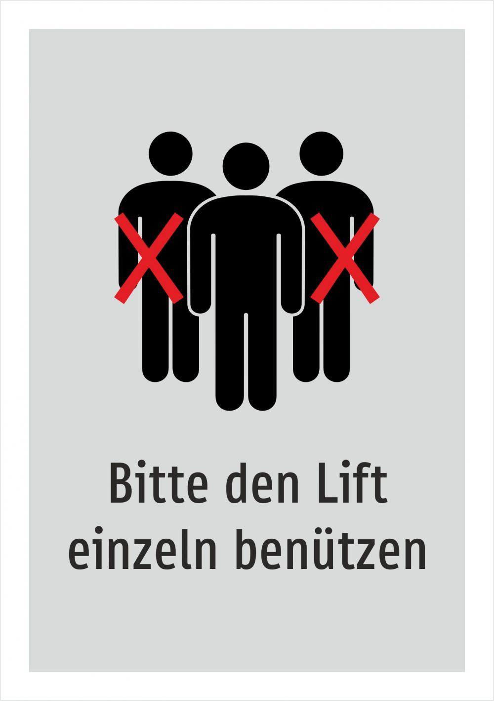 Bitte den Lift einzeln benützen