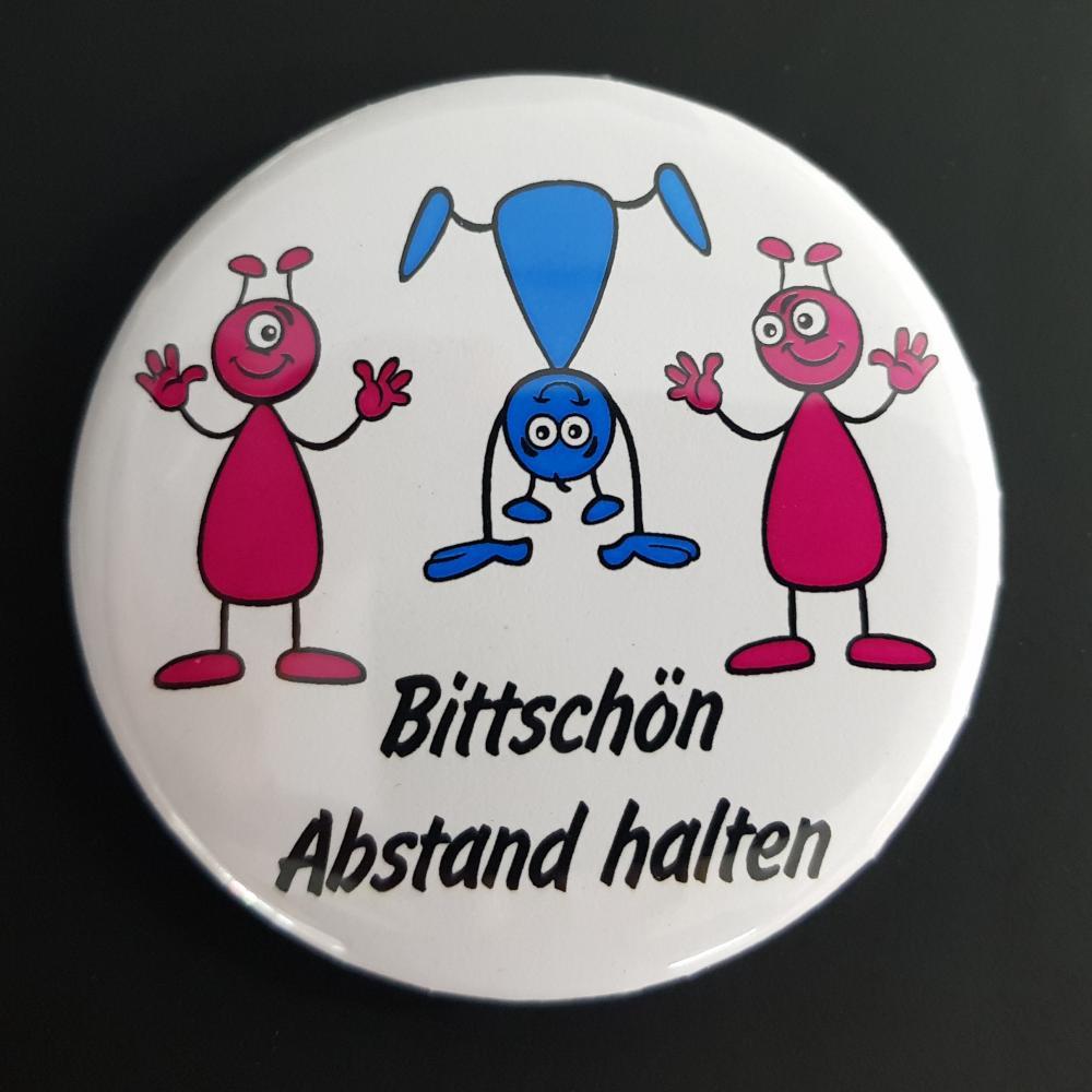 Button: Bitte Abstand halten - Motiv Ameisen