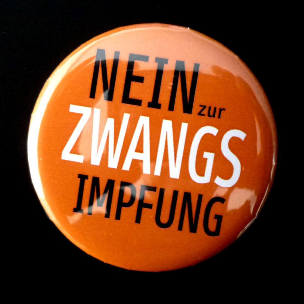 Button: NEIN zur Zwangsimpfung