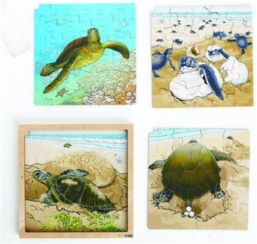 Computerunterstützte 4 Schichtenpuzzle Schildkröte