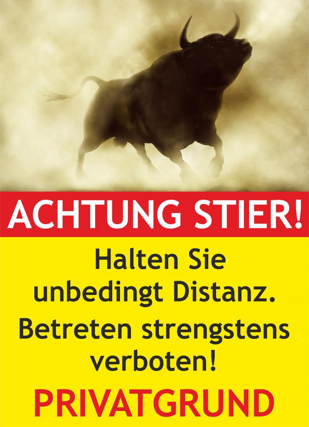 Achtung Stier! Privatgrund