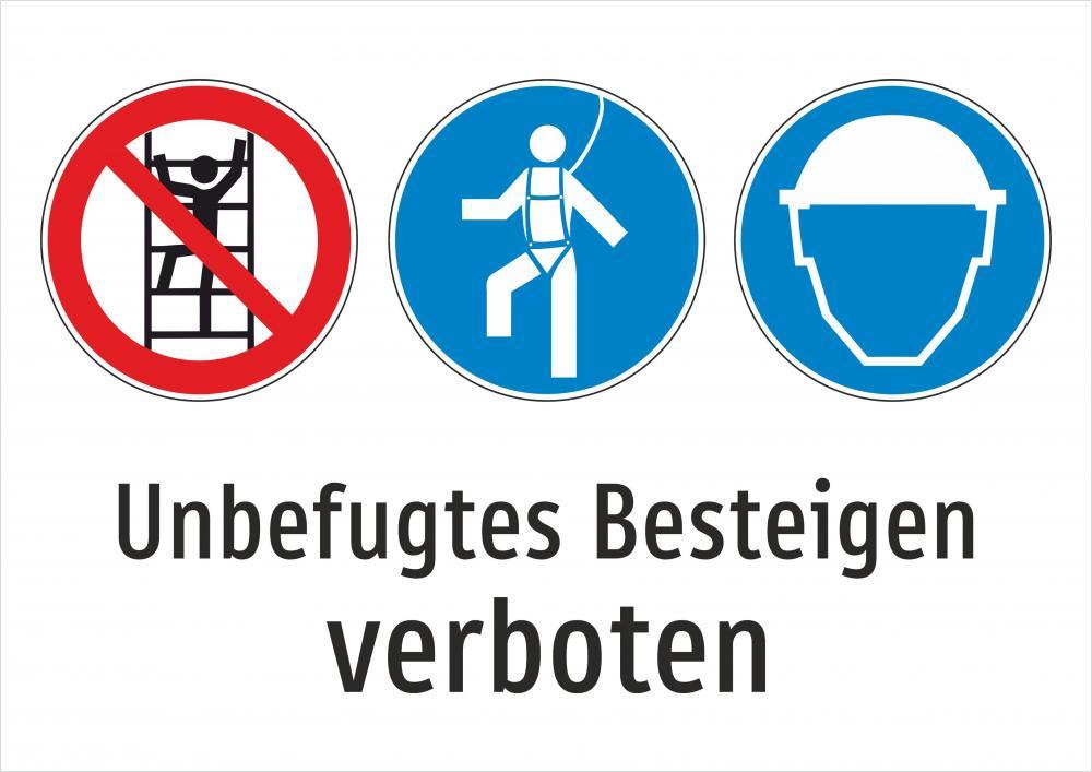 Besteigen der Liftstützen verboten