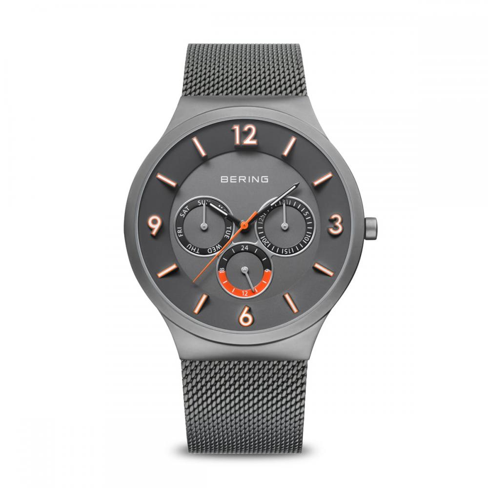 Bering Herrenuhr Classic | grau gebürstet | 33441-377