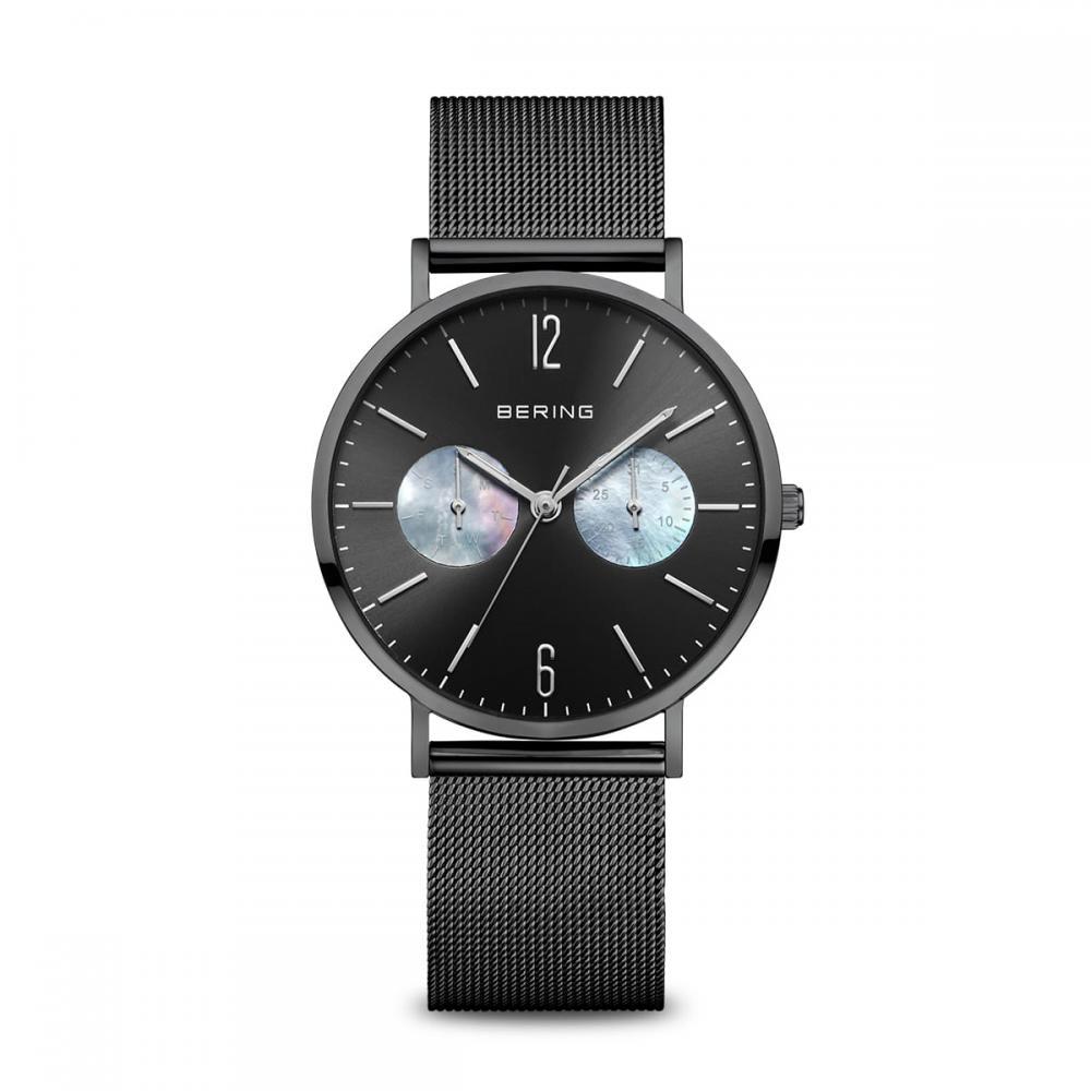 Bering Damenuhr Classic  | schwarz glänzend | 14236-123