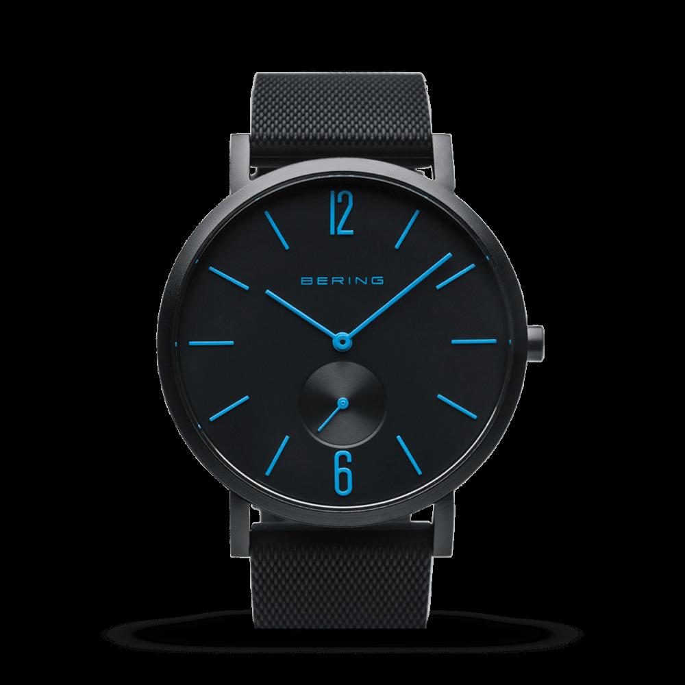 Bering Unisex Uhr True Aurora | schwarz matt | 16940-499