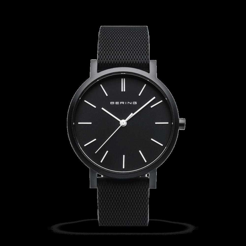 Bering Unisex Uhr True Aurora | schwarz matt | 16934-499