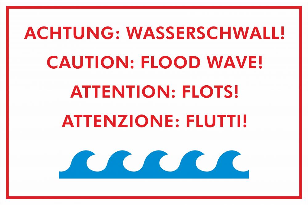 Achtung Wasserschwall