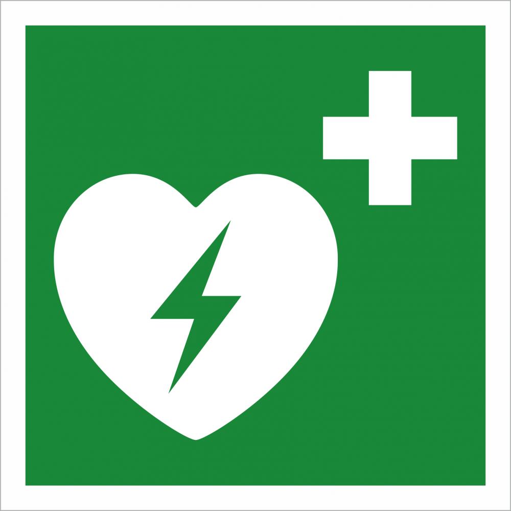 Defibrillator Rettungszeichen