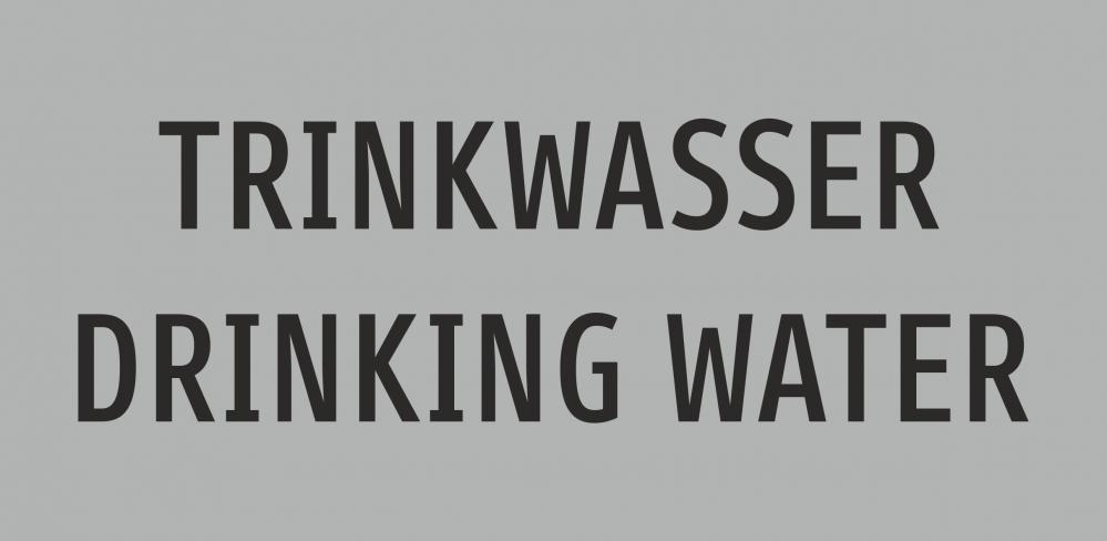 TRINKWASSER - DRINKING WATER (deusch/englisch)