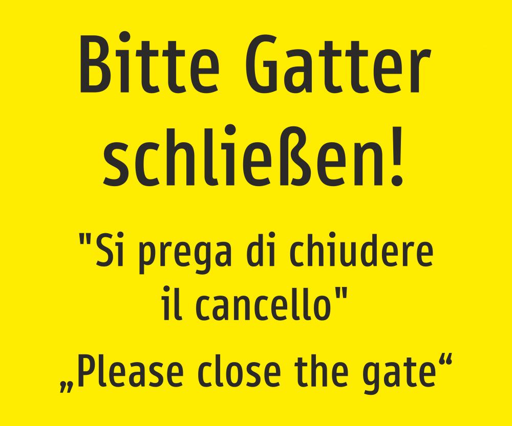 Bitte Gatter schließen