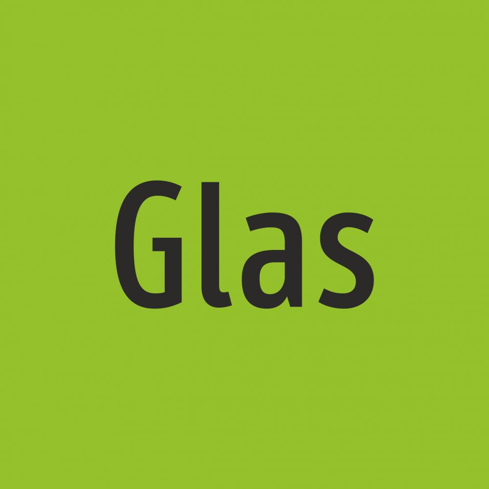 Müllkennzeichnung - Glas Aufkleber eckig