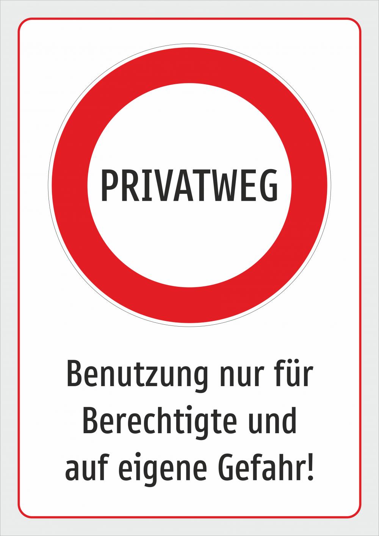 Privatweg - Benutzung nur für Berechtigte und auf eigene Gefahr!