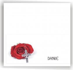 Dankeskarte Rose