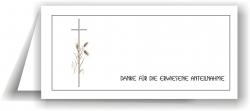 Dankeskarte Kreuz mit Ähren