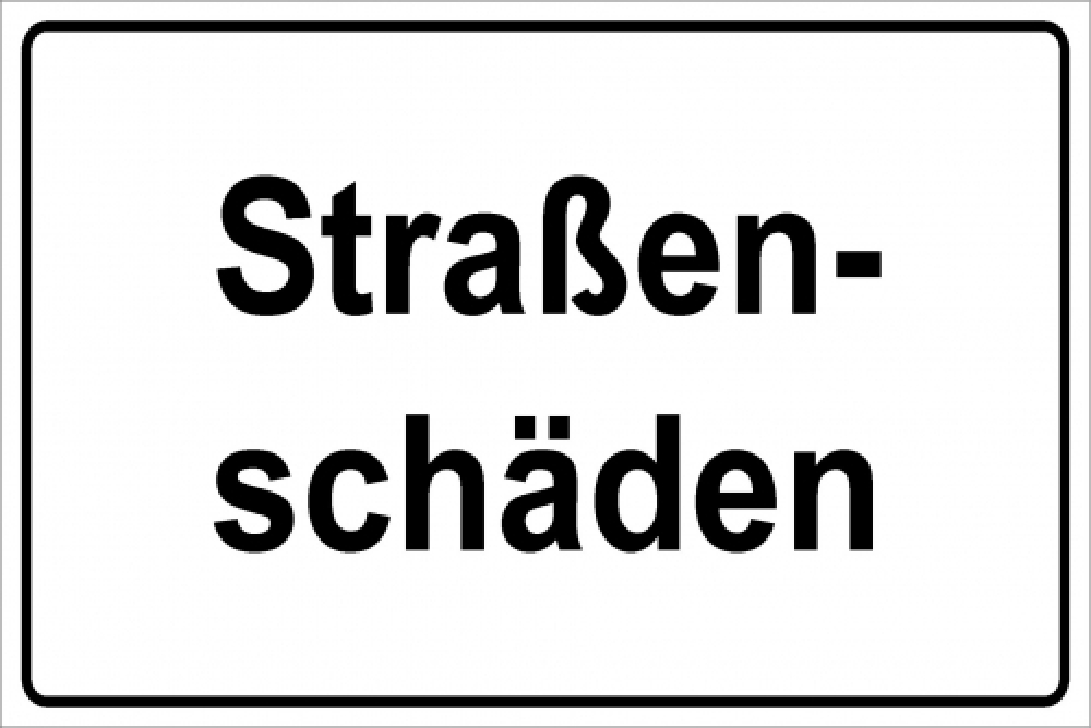 Straßenschäden