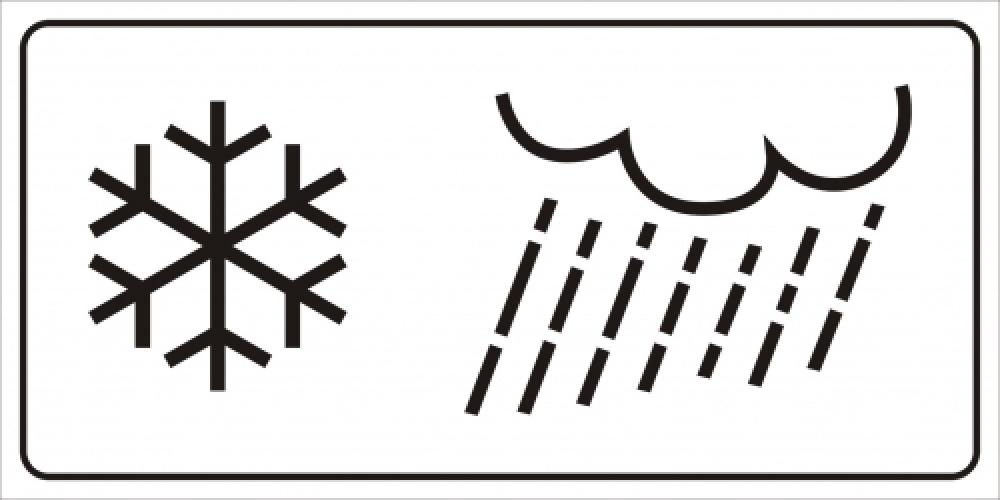Regen und Schneefall