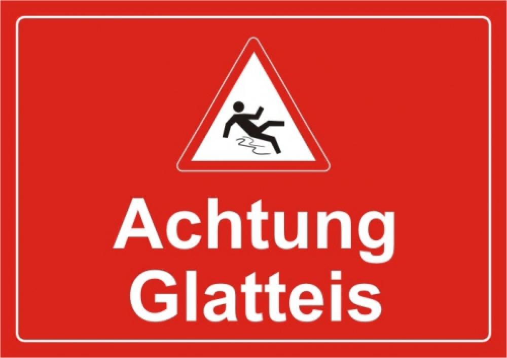 Achtung Glatteis (rot)