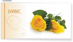 Dankeskarte gelbe Rose
