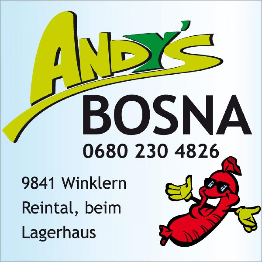 Andy's Bosna - Pommes, Getränke, versch. Bosna-Spezialitäten