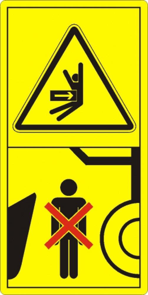 Aufenthalt unter schwebender Last verboten!