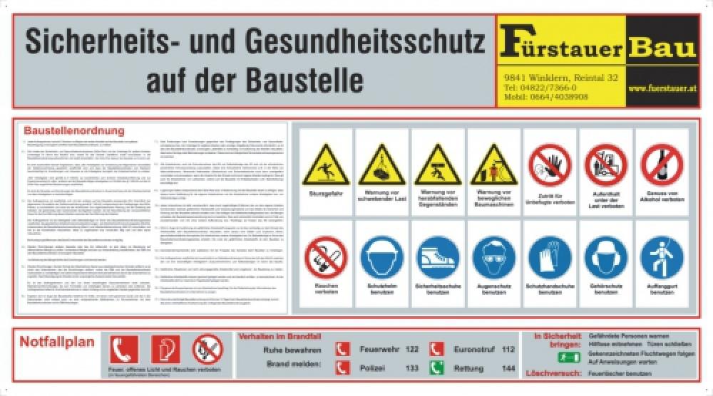 Baustellensicherheitstafel 1