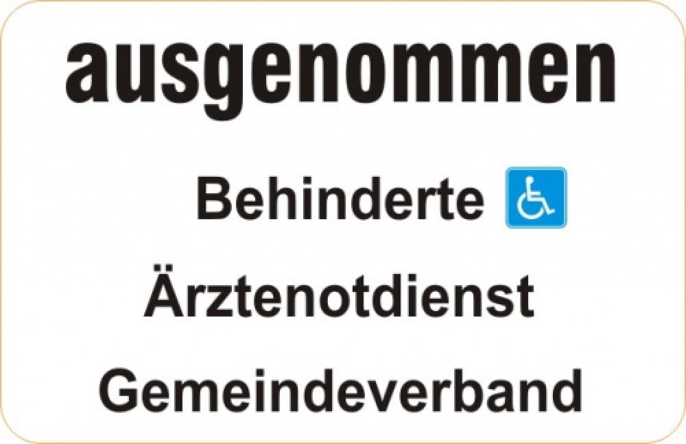 ausgenommen Behinderte